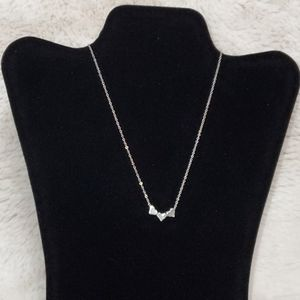 Girl's Silver Heart Charm Necklace